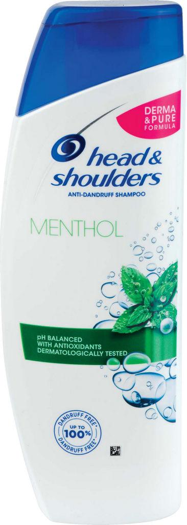 Šampon H&S, menthol, 400ml