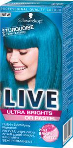 Barva za lase Schwarzkopf Live U96 Turquoise Temptation