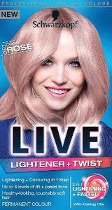 Barva za lase Schwarzkopf Live Lightener+twist rožnato blond
