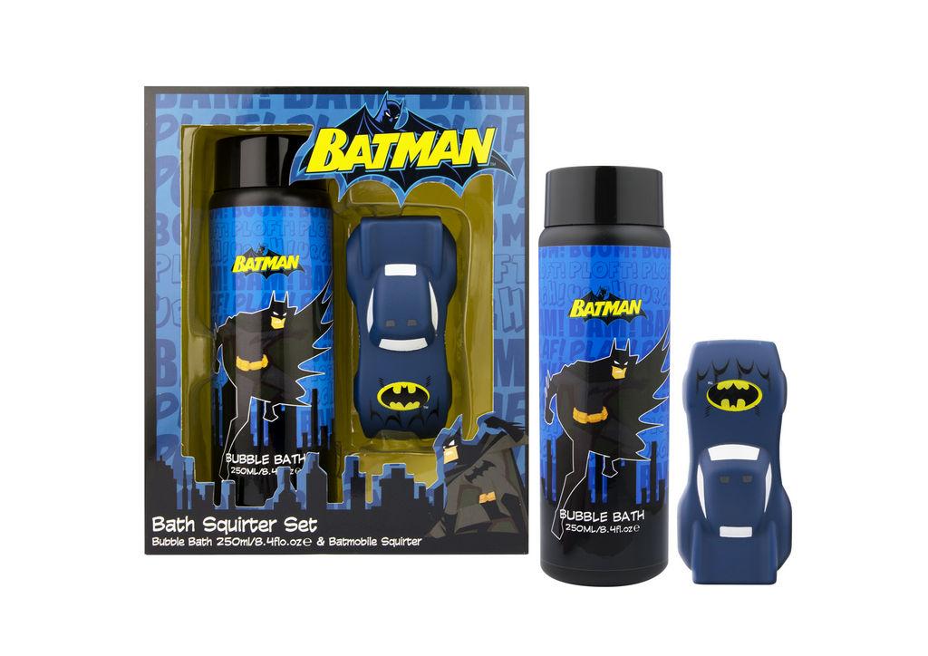 Darilni set Batman, peneča kopel 250 ml + igrača v obliki avtomobilčka