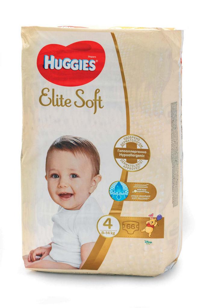 Plenice Huggies, Elite soft 4, mega, 66/1
