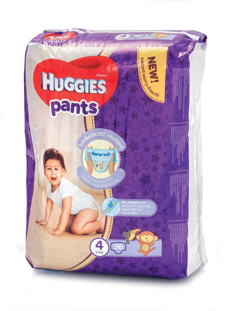 Plenice Huggies, Pants 4, jumbo, 36/1
