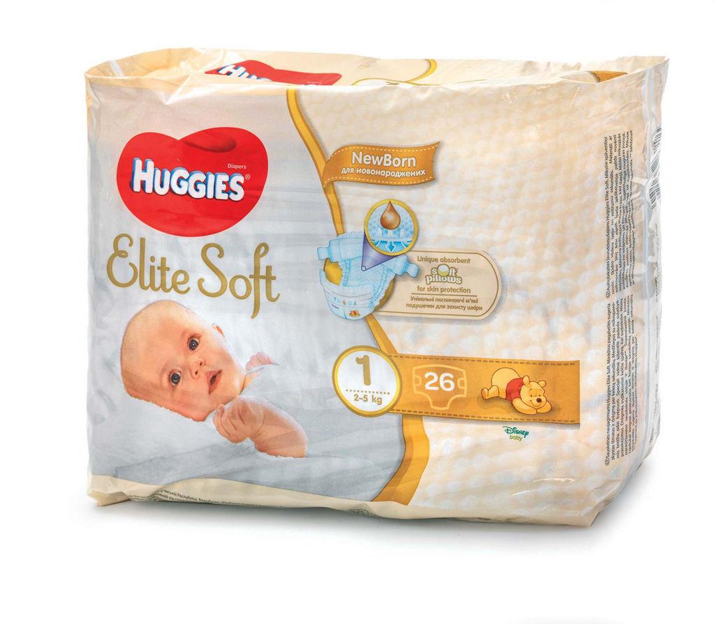 Plenice Huggies, Elite soft 1, 26/1