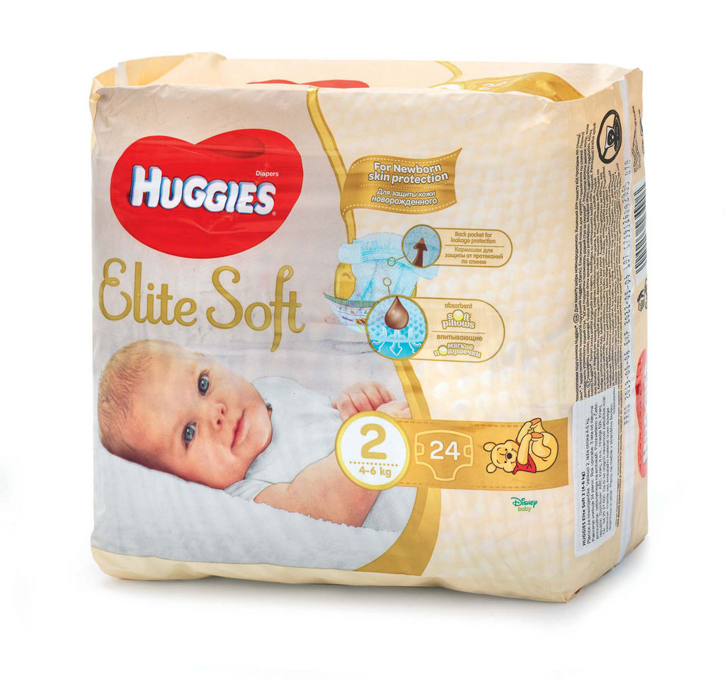 Plenice Huggies, Elite soft 2, 24/1
