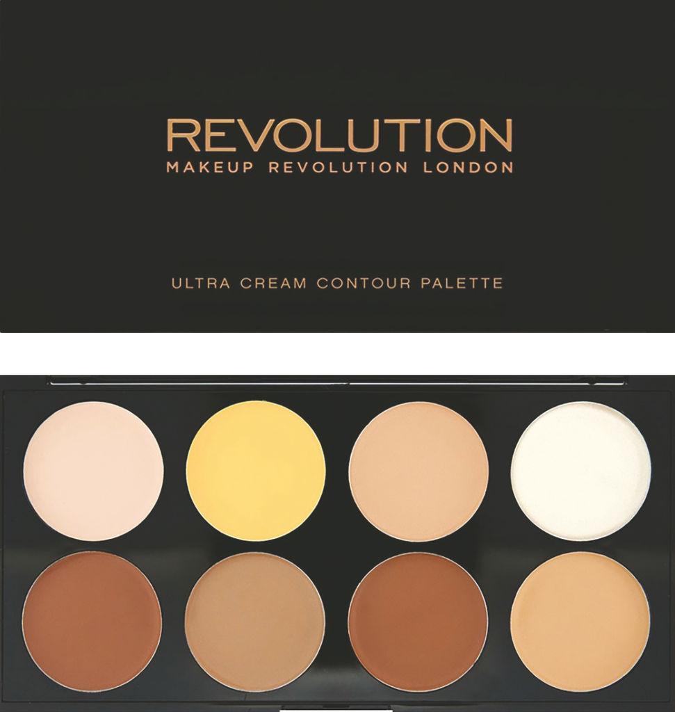 Paleta za senčenje Revolution, Ultra cream contour