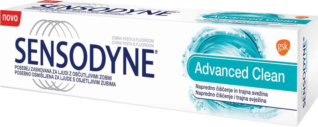 Zobna pasta Sensodyne, Advance clean, 75ml