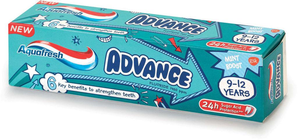 Zobna pasta Aquafresh, Advance kids, 75ml
