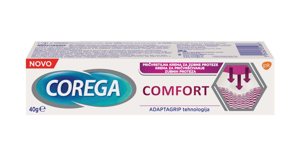 Krema Corega, pričvrstilna, Comfort, 40g