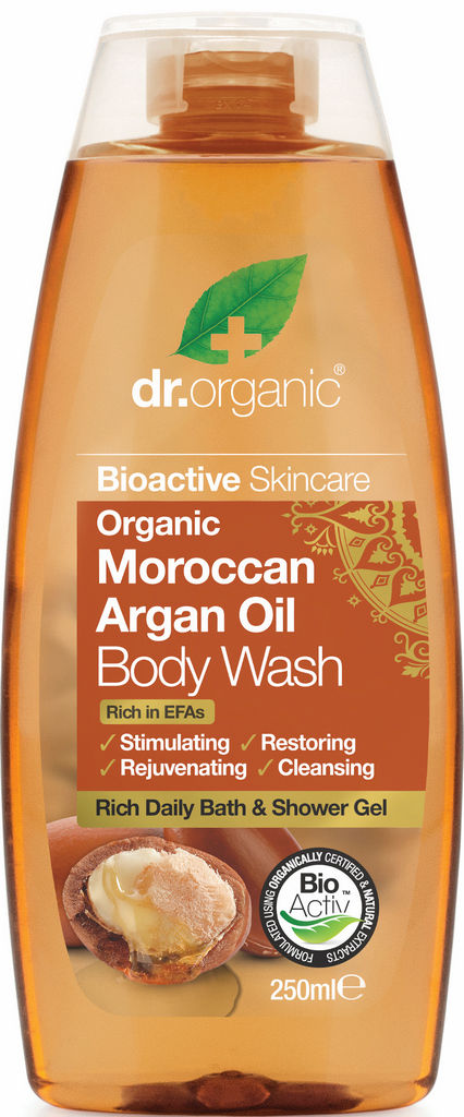 Gel za prhanje Dr.Organic z arganovim oljem, 250ml