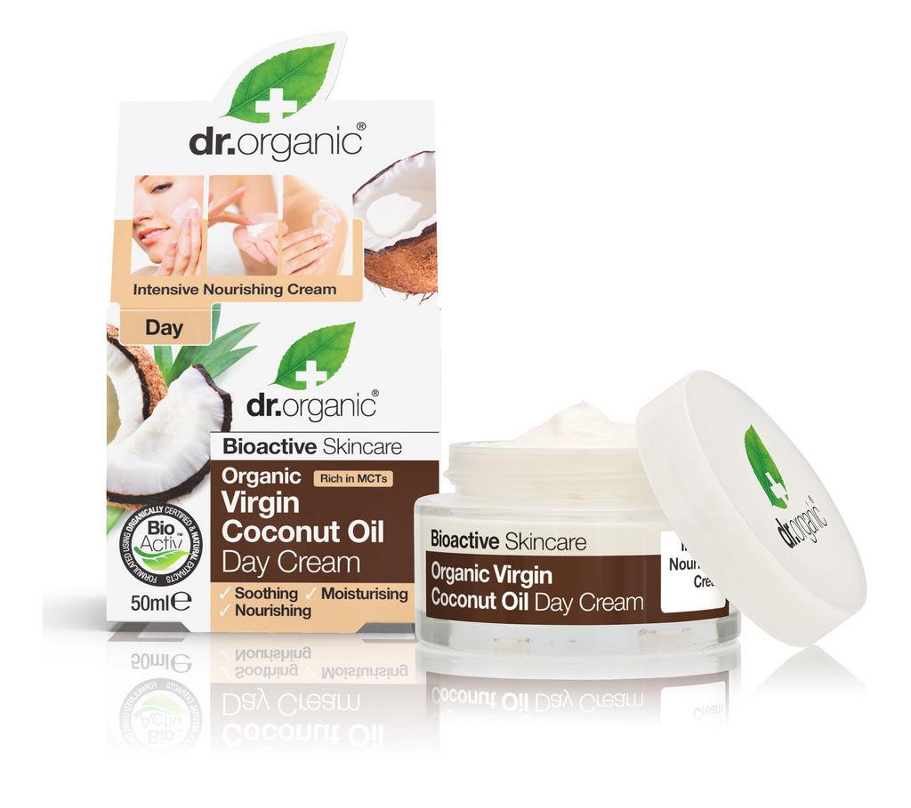 Krema Dr.Organic, dnevna s kokosovim oljem, 50 ml