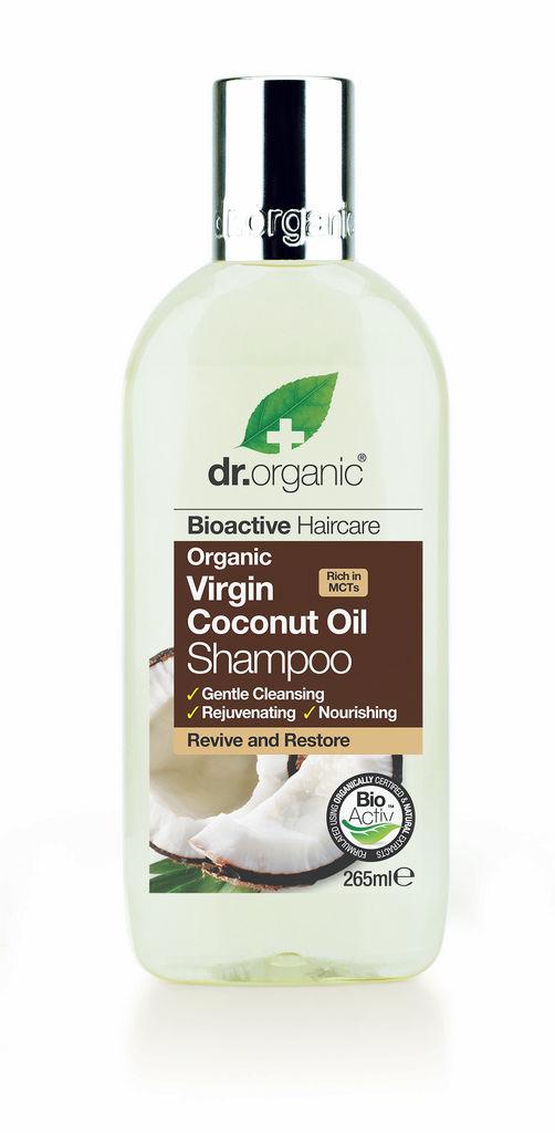 Šampon za lase Dr.Organic, s kokosom, 265 ml