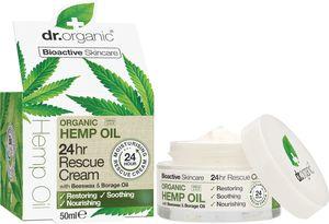 Krema Dr.Organic, Rescue z oljem konoplje, 50 ml