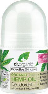 Deozodorant roll-on Dr.Organic s konopljinim oljem, 50ml