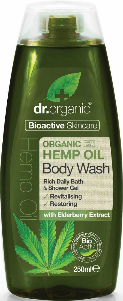 Gel za prhanje Dr.Organic, s konopljinim oljem, 250ml