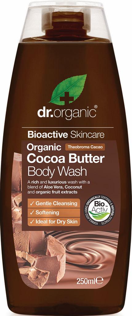 Gel za prhanje Dr. Organic, s kakavovim maslom, 250ml
