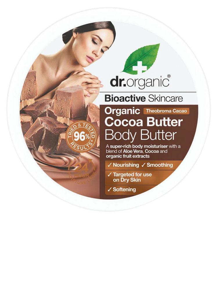 Maslo za telo Dr. Organic, s kakavovim maslom, 200 ml
