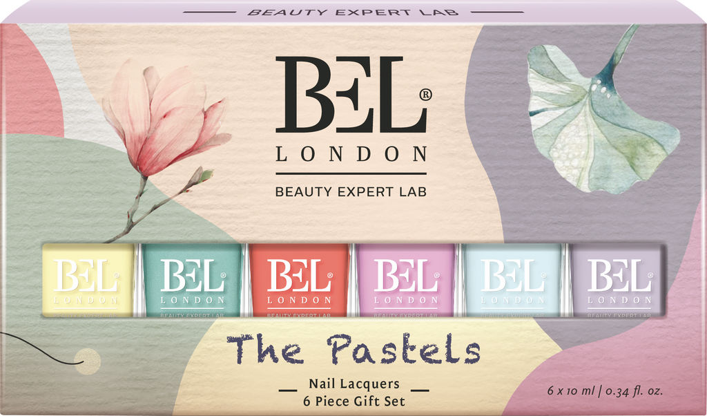 Set lakov za nohte Bel London, The Pastels, 6 x 10 ml