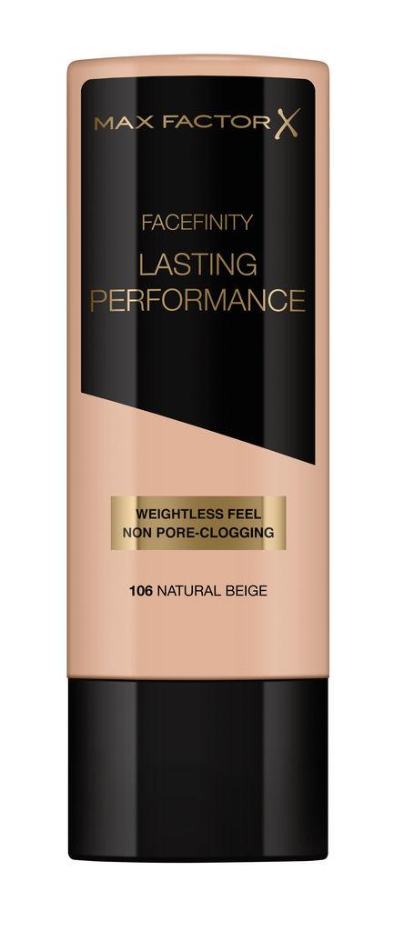 Puder tekoči, Max Factor, Lasting Preformance, natural beige 106