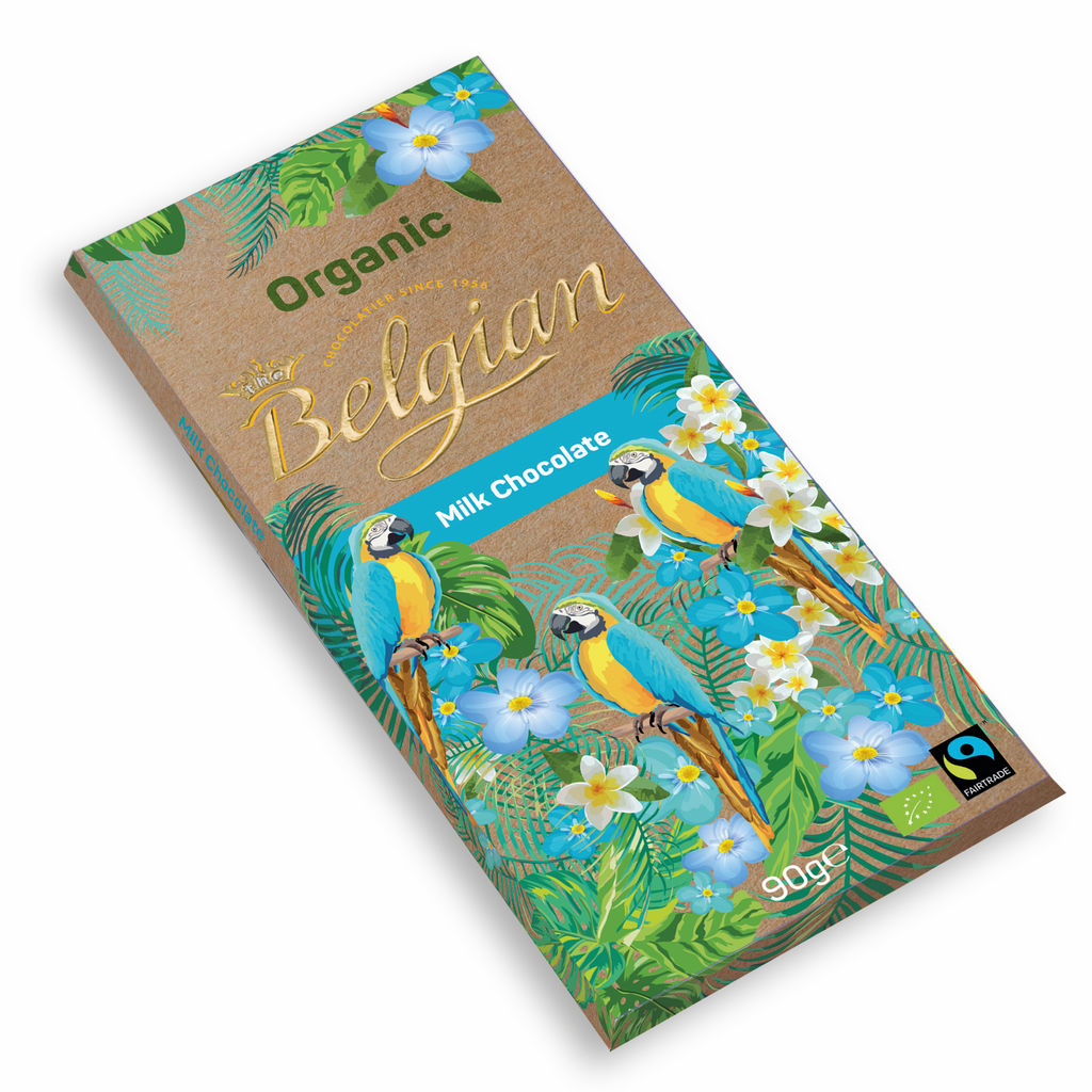 Čokolada mlečna Bio, The Belgian mlečna, 90 g