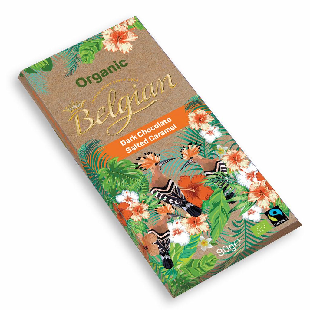 Čok.Bio The Belgian, temna s slano karamelo, 90 g