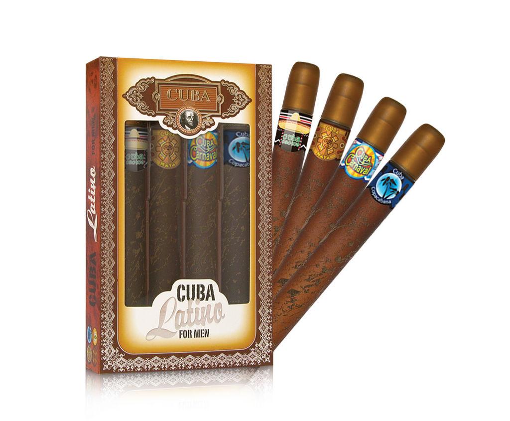 Darilni set Cuba, Latino: Cuba Cactus, Cuba Maya, Cuba Carnaval, Cuba Copacabana, 4 x 35 ml