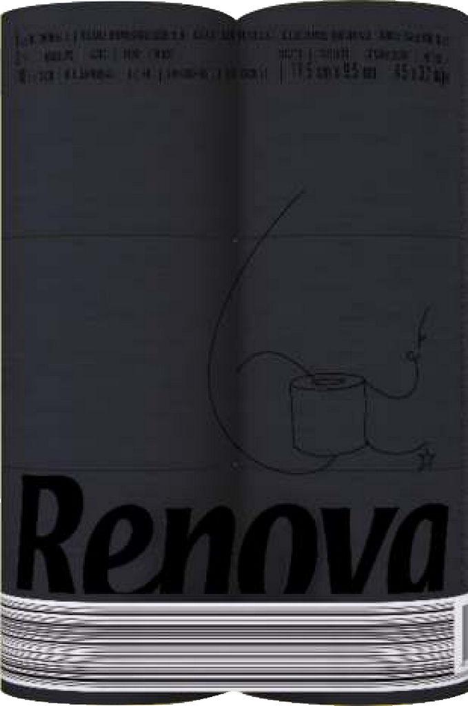 Toaletni papir Renova, black 3 slojni, 6/1