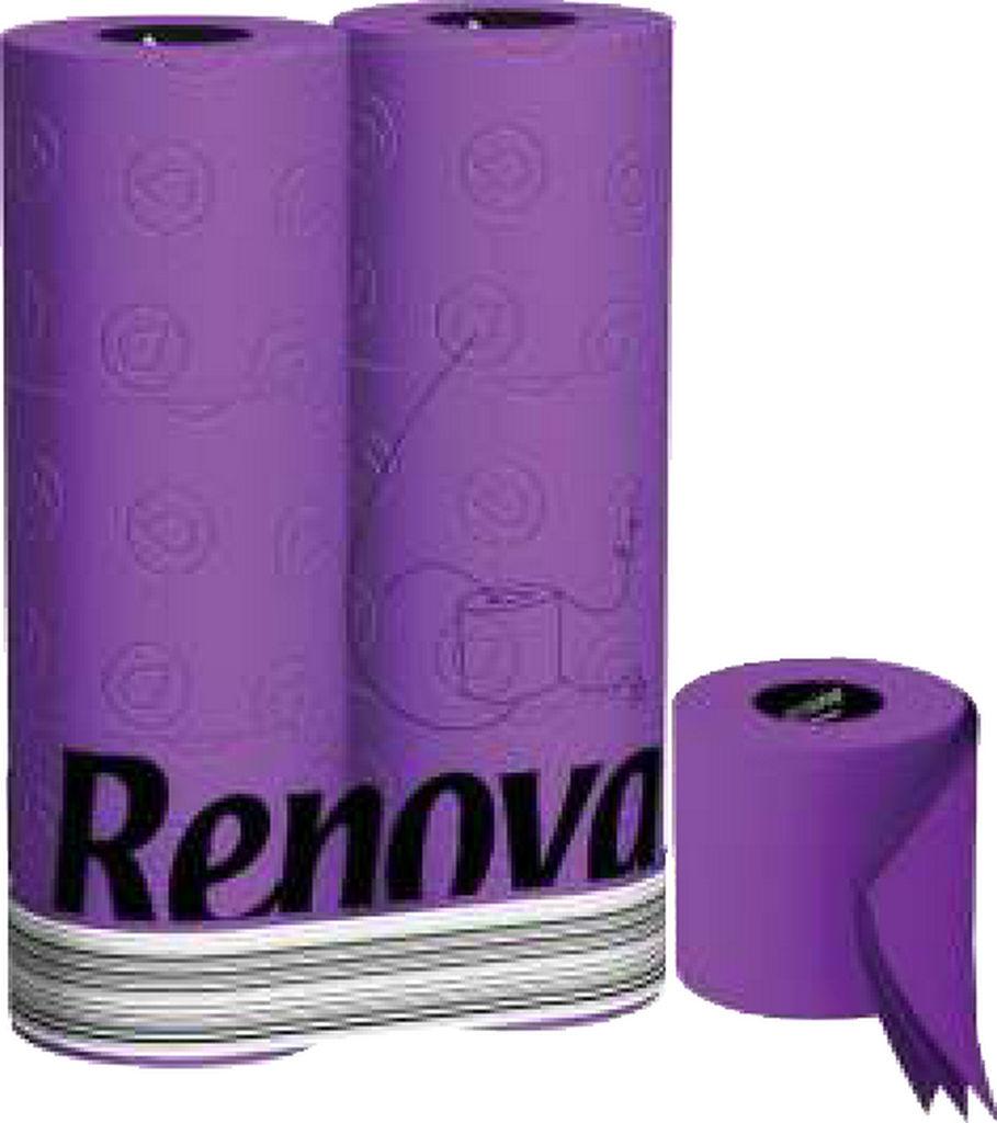 Toaletni papir Renova, purple 3 slojni, 6/1