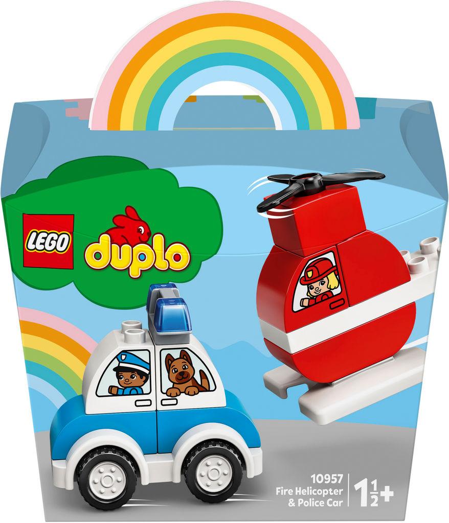 Lego Duplo MY First, Gasilski helikopter in policijski avto