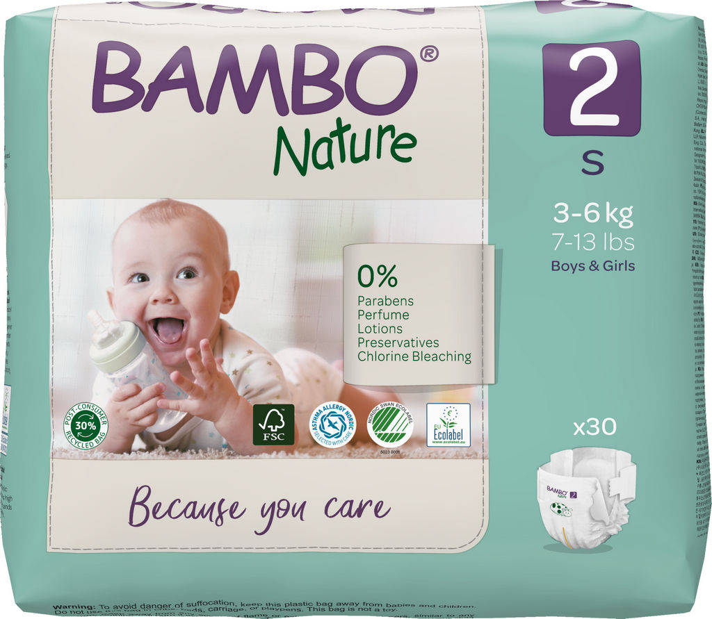Plenice Bambo, Nature, mini 2, 3-6kg, 30/1
