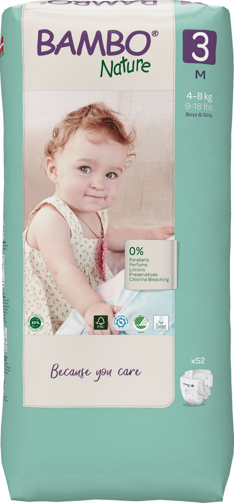 Plenice Bambo, Nature, midi 3, 4-8kg, tall pack, 52/1