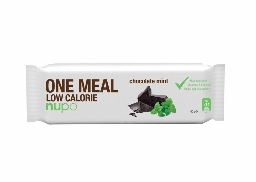 Ploščica Nupo, nadomestilo obroka, čokolada in poprova meta, 60g