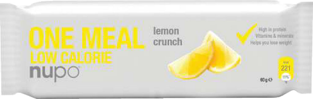 Nadomestilo obroka ploščica Nupo, hrustljava limona, 60g