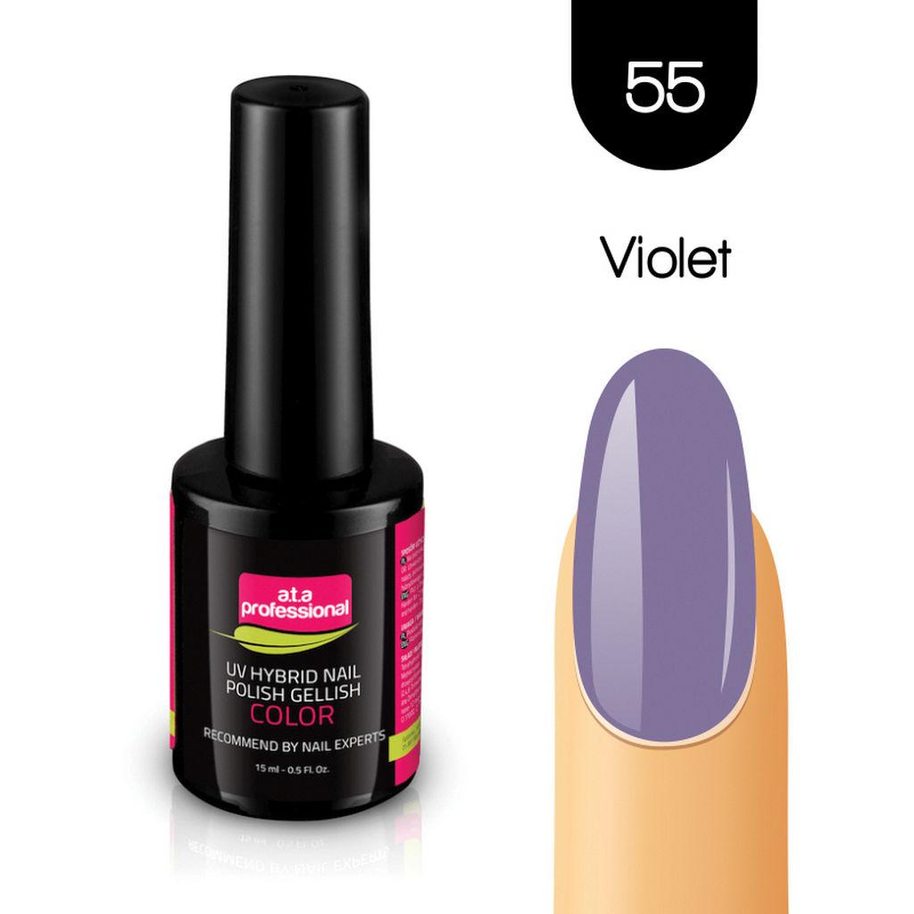 Gel lak za nohte Fantoma, UV/LED, št.55 Violet