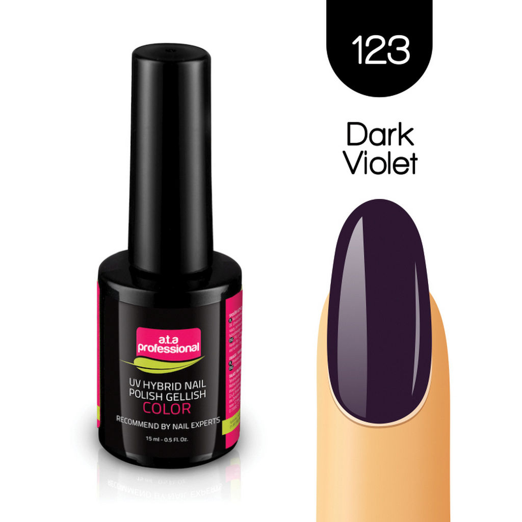 Gel lak za nohte Fantoma, UV/LED, št.123 Dark Violet