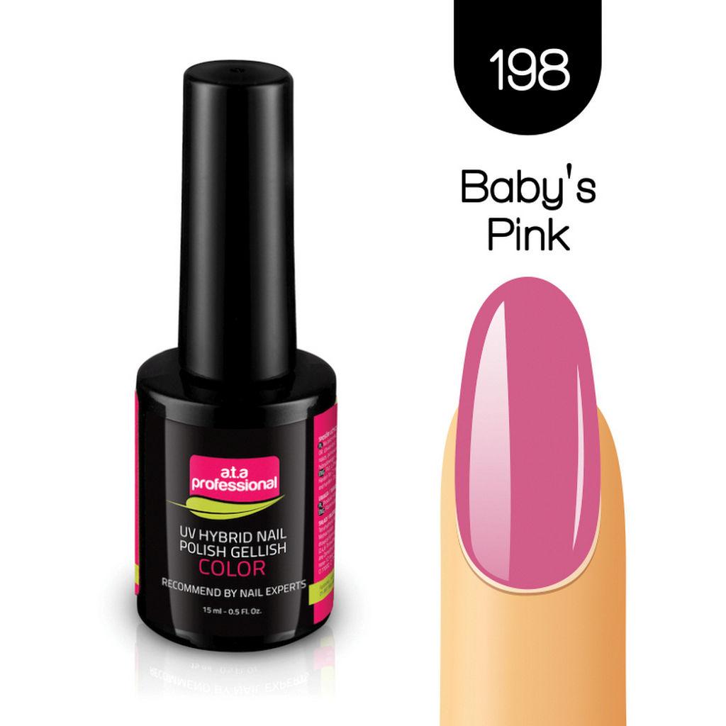 Gel lak za nohte Fantoma, UV/LED št.198 Baby pink