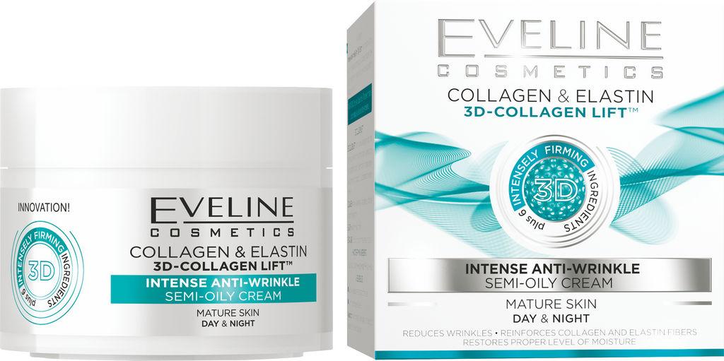 Krema za obraz Eveline, 3D-Collagen Lift Intense Anti-wrinkle, 50 ml