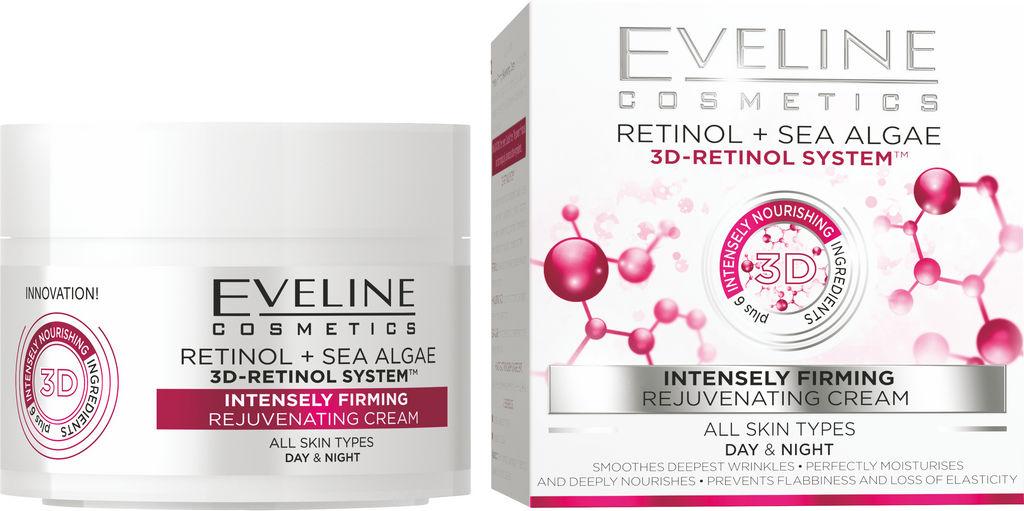 Krema za obraz Eveline, NL retinol + morske alge, 50 ml