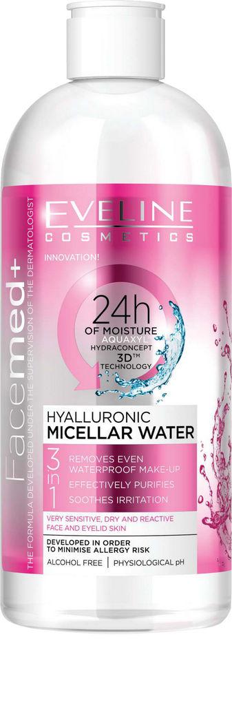 Micelarna voda Eveline, Hialuronska 3 v 1, 400 ml