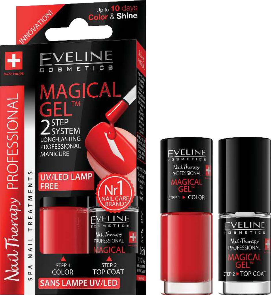 Lak za nohte Eveline, Magical gel 2 v 1, No. 1