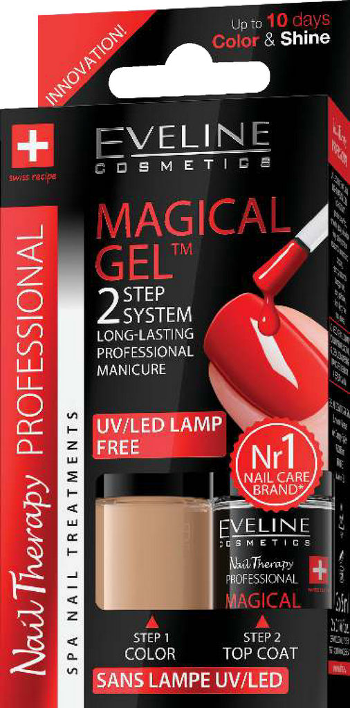 Lak za nohte Eveline, Magical gel 2 v 1, No. 2