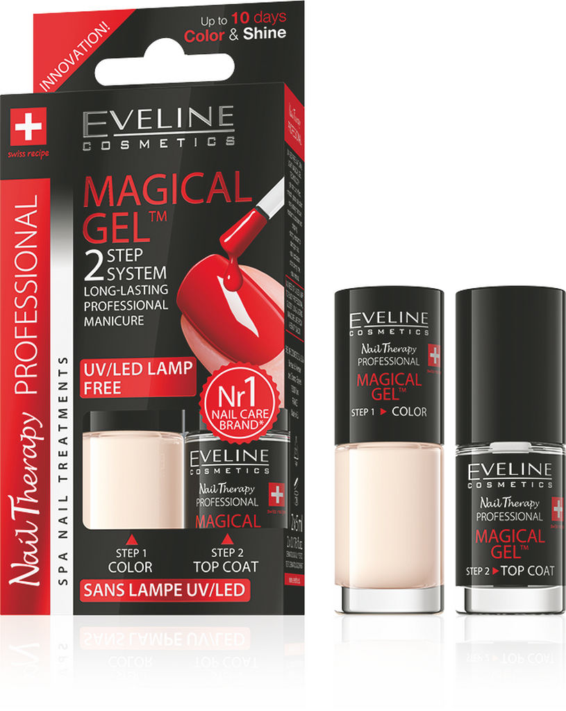 Lak za nohte Eveline, Magical gel 2 v 1, No. 8