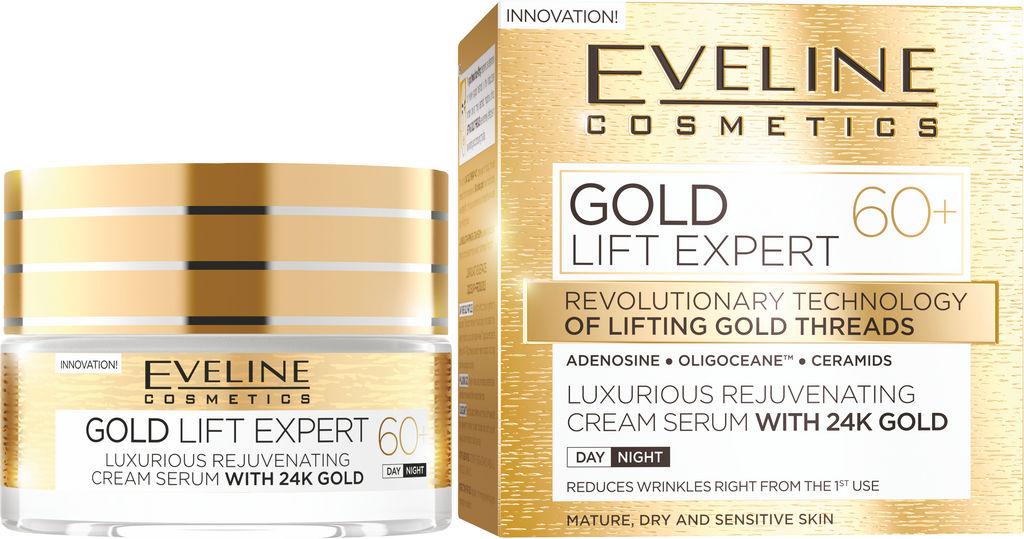 Krema za obraz Eveline, Lift Expert Gold 60+, 50 ml