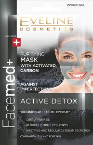 Maska čistilna za obraz Eveline, Facemade+ Active detox, 2 x 5 ml