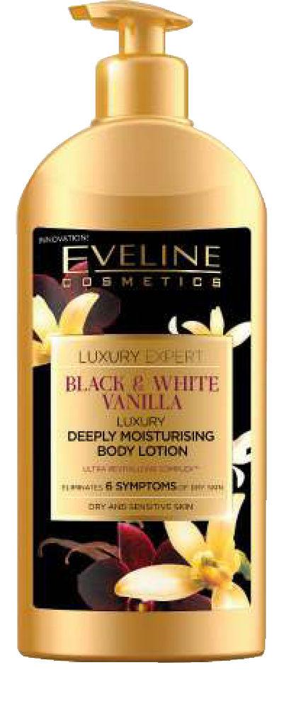 Losijon Eveline, black & white vanilla, 350 ml