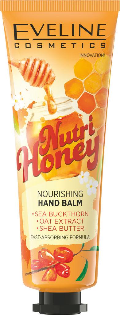 Krema za roke Eveline, Nutri Honey negovalna, 50 ml