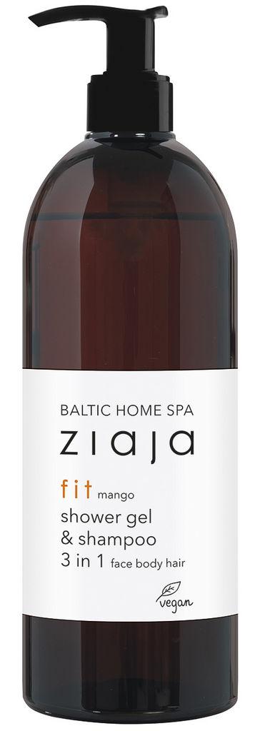 Gel za prhanje in šampon Ziaja, 3v1, Baltic Home Spa Fit, 500 ml