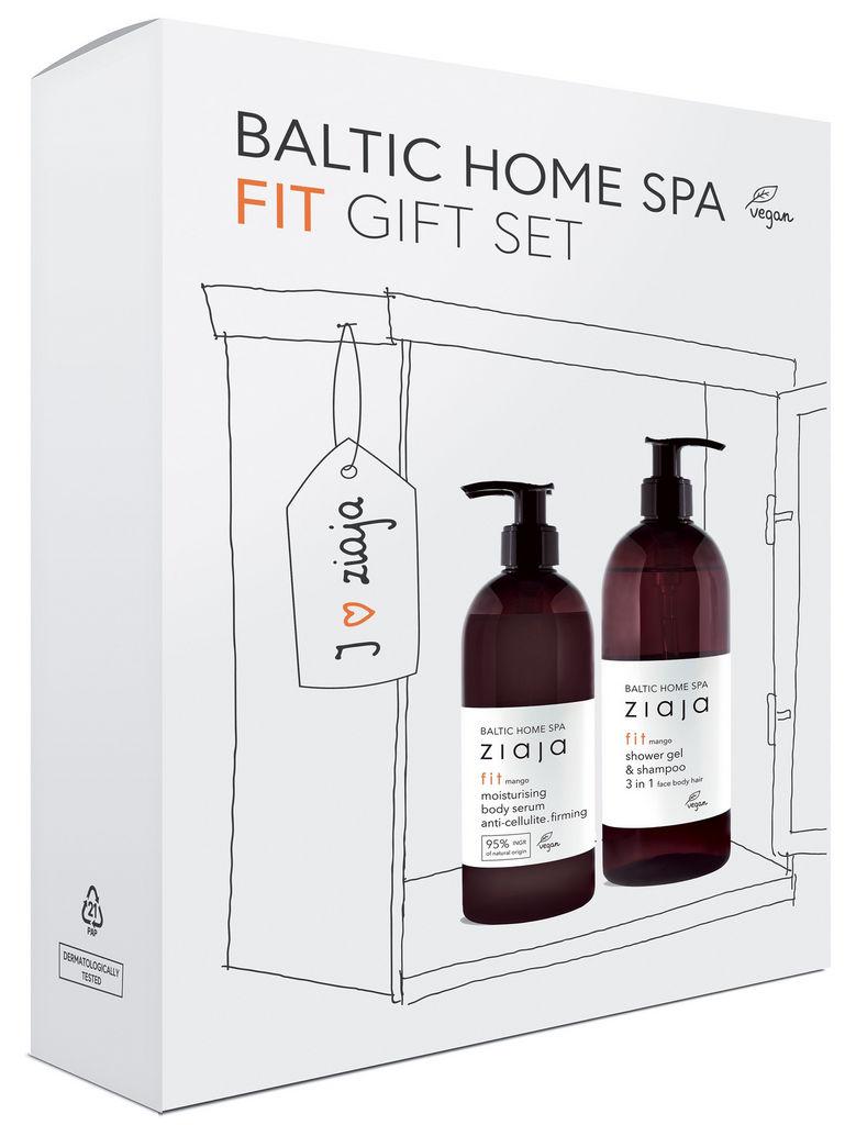 Darilni paket Ziaja, Baltic Home Spa, fit, vlažilni serum + gel za prhanje 3 v 1