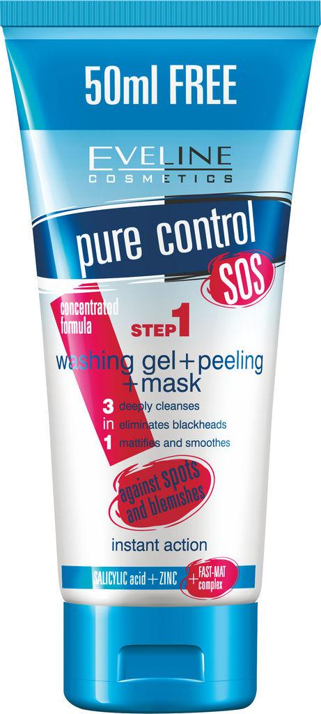 Gel čistilni za obraz Eveline, Clean your skin 1, 200 ml