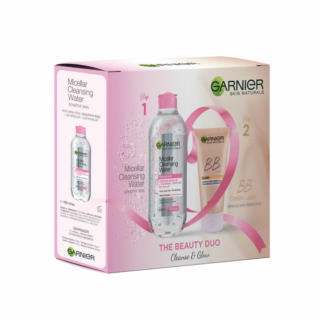 Darilni set Garnier božični, Micelarna voda+BB krema