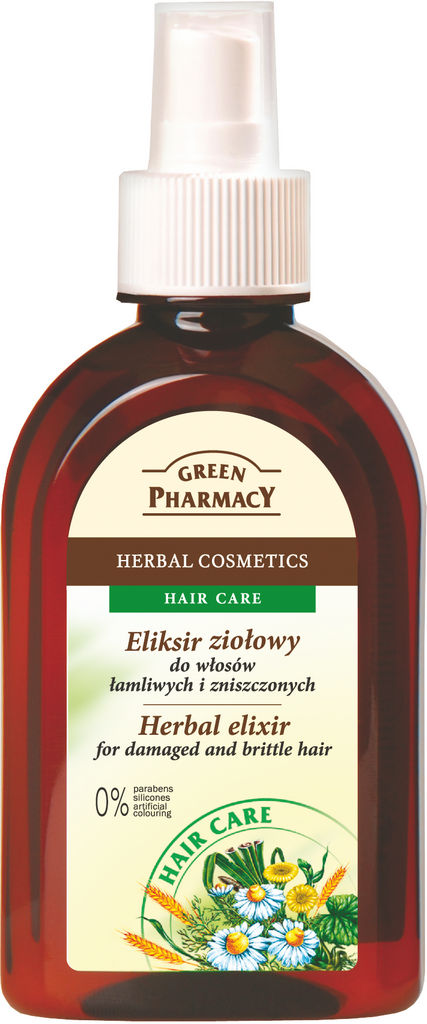 Eliksir za lase Green Pharmacy zeliščni, 30ml